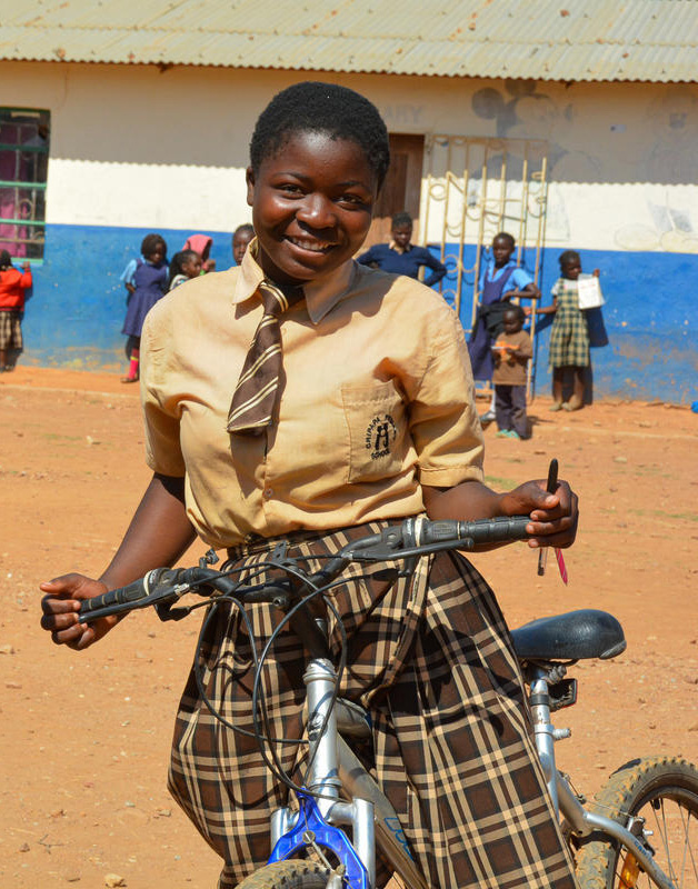 A female student from Zambia