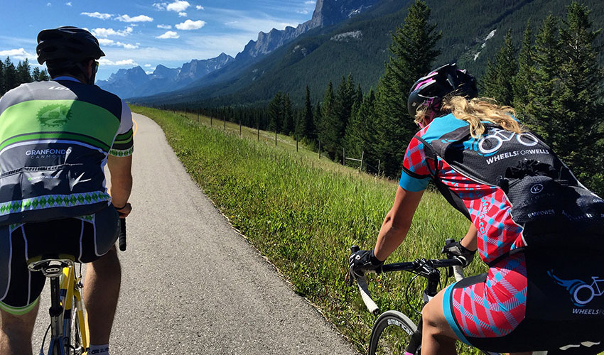 David Custer and Jaylene Kemp start their ride in the Rocky Mountains.