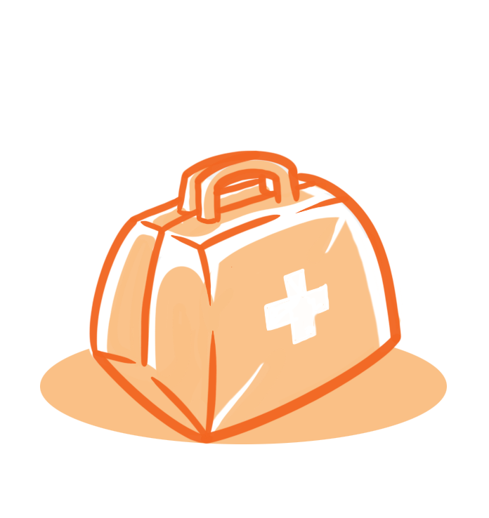 Graphic of an emergency kit