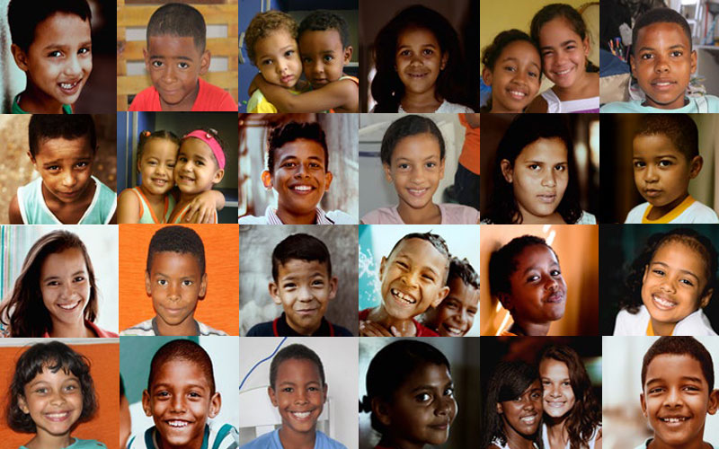 Children from Brazil who have participated in World Vision projects.